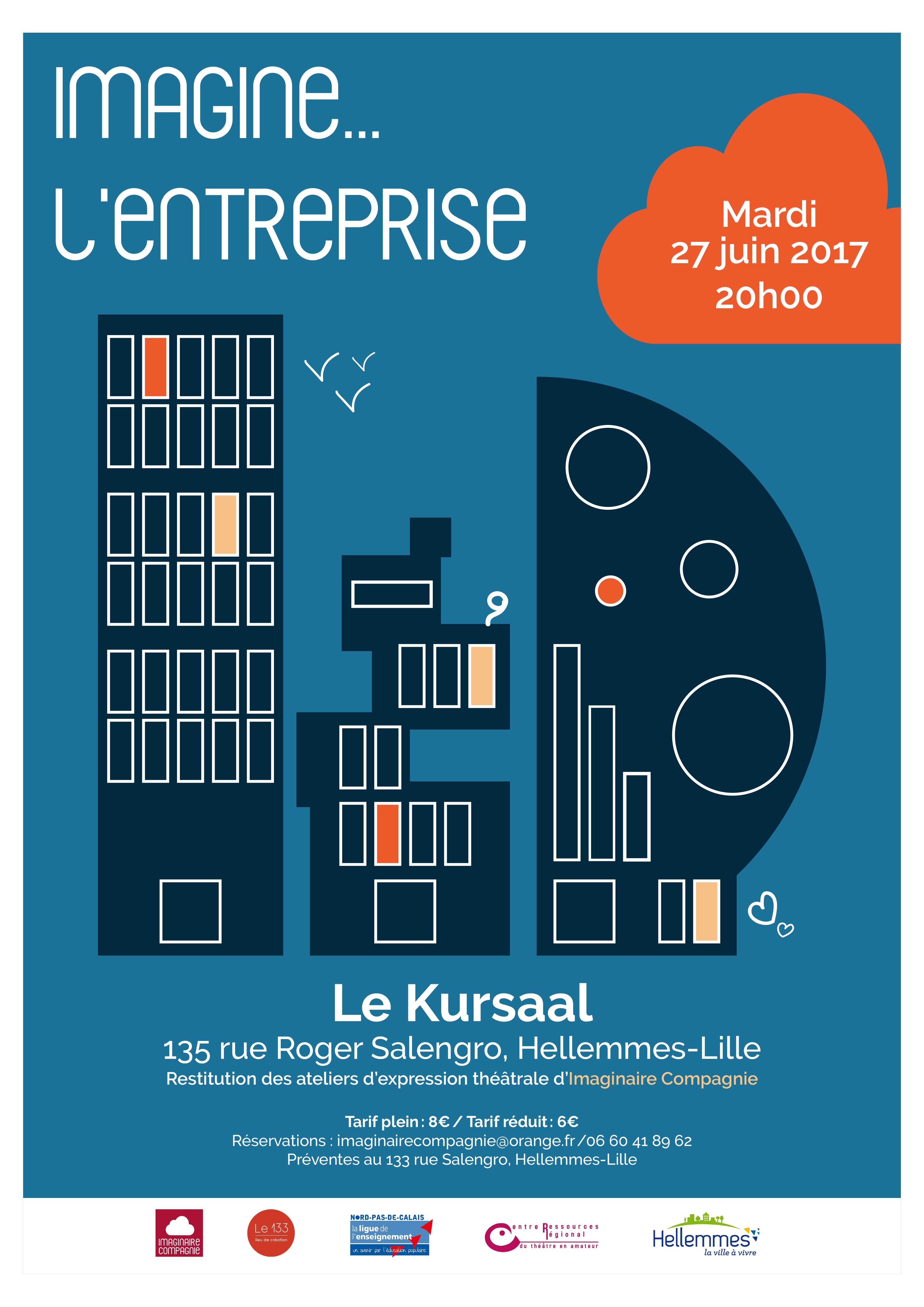 Affiche Restitution ateliers théâtre - Imaginaire Compagnie Lille-Hellemmes